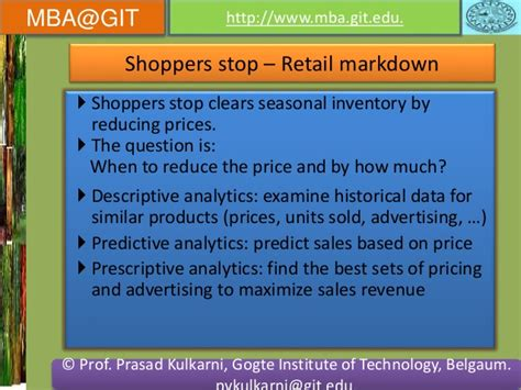 Retail Mba How Much by Business Analytics Module 5 14mba14 According To New Vtu