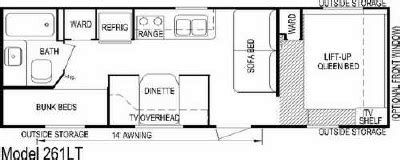 aljo trailers floor plans 2007 skyline aljo lite 261lt floorplan