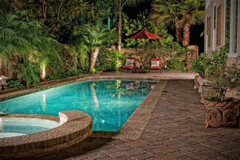 small yard pool mediterranean with jacuzzi metal outdoor