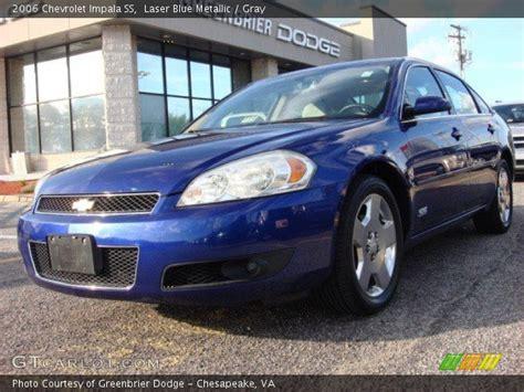 2006 blue chevy impala laser blue metallic 2006 chevrolet impala ss gray