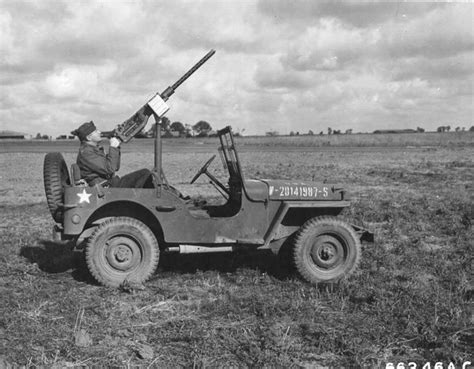 military jeep with gun de 567 b 228 sta us eighth air force in wwii england