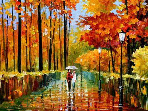 the art of art wallpapers autumn oil paintings