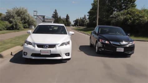 2013 lexus ct 200h versus acura ilx hybrid autoevolution