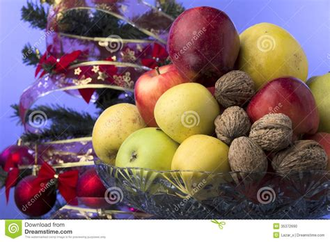 apples and oranges for new year merry and happy new year stock photo image