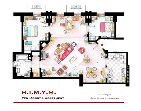 apartment layouts floor plans of homes from famous tv shows