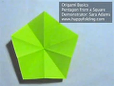 Folding Paper 8 Times - origami basics cut a pentagon from a square