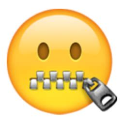 emoji zipped mouth zipper mouth face emoji u 1f910