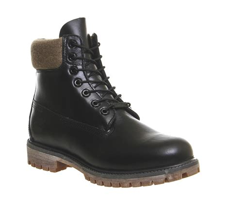 buck boots timberland 6 in buck boot in black for lyst