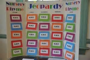 nursery rhyme jeopardy baby shower ideas