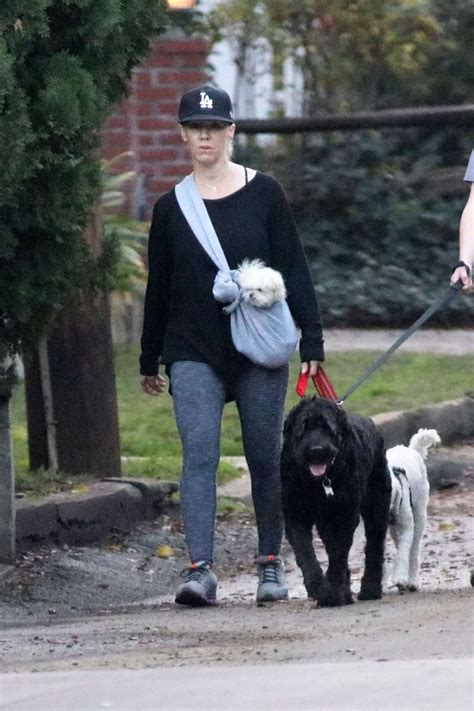 puppies los angeles jennie garth out with dogs in los angeles