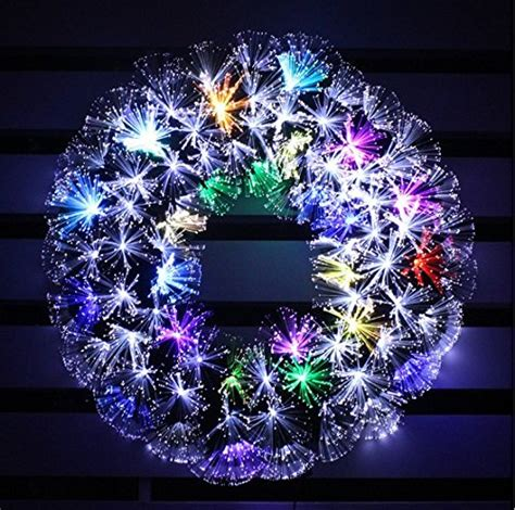 white fiberoptic trees with multi colored lights multi color led fiber optic wreath 24in cool white multi colore merry led