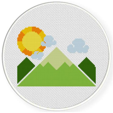 cute mountain pattern charts club members only cute mountains cross stitch