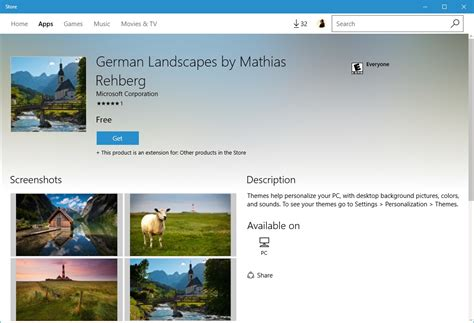 themes microsoft store windows store now with desktop themes tech news log