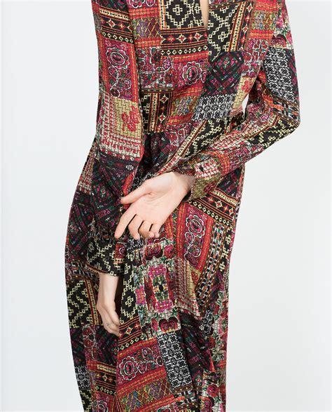 Zara Patchwork - zara midi patchwork dress dresscodes