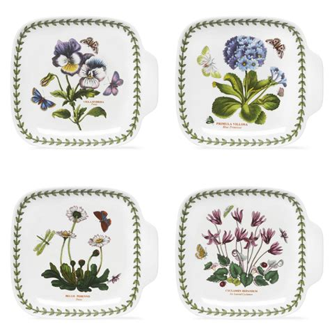Portmeirion Botanic Garden Canape Dishes Set Of 4 Botanic Garden Portmeirion
