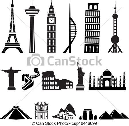 Sketches Of 7 Wonders In World by World Buildings