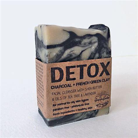 Detox Soap by Detox Bar Activated Charcoal Green Clay