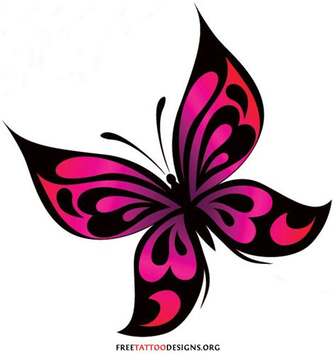 butterfly tattoo clipart red butterfly tattoo clipart best