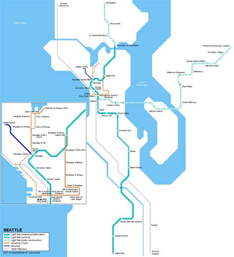 seattle link light rail map urbanrail gt usa gt washington gt seattle light rail