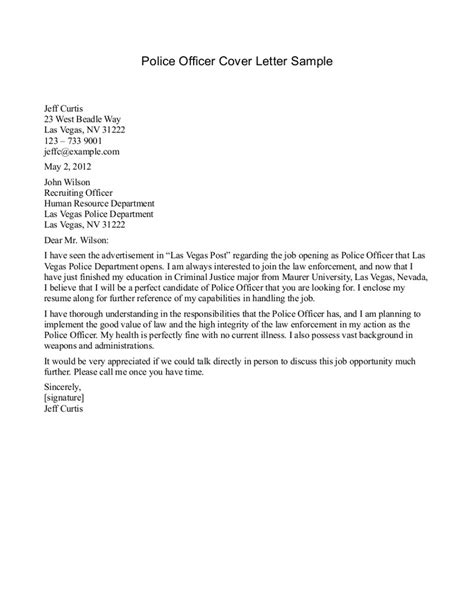 Enforcement Cover Letter Exles sle cover letter enforcement cover letter templates
