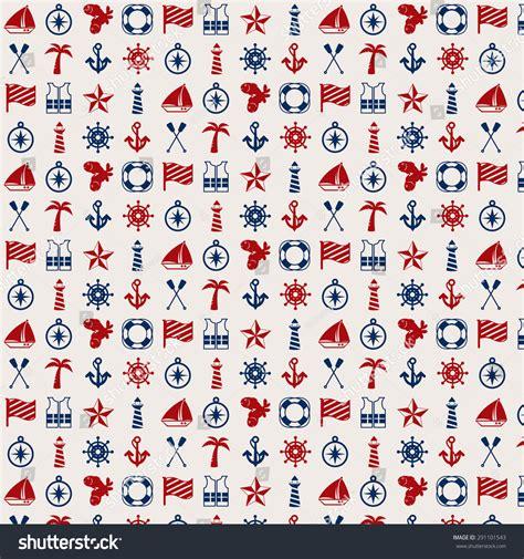 flat pattern stock nautical flat pattern design background stock vector