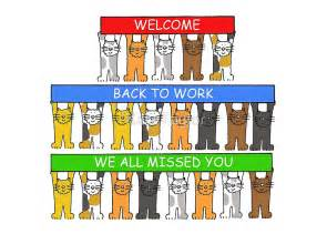 Custom Printed Duvet Covers Quot Welcome Back To Work We All Missed You Cats Quot Greeting