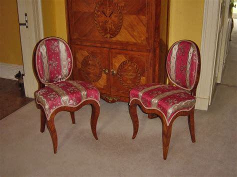 Hawkins Furniture by Hawkins Furniture Upholstery Pair Of Salon Chairs