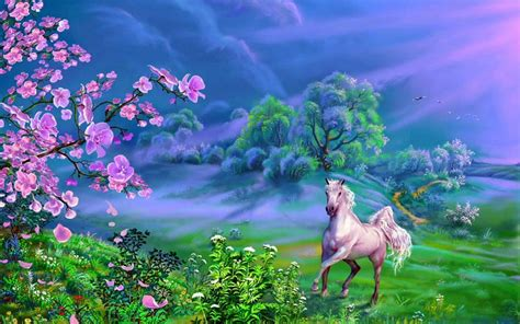 beautiful art pictures beautiful landscape nature art horse meadow trees