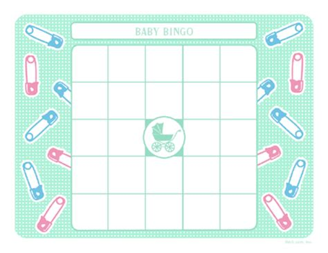 Blank Baby Bingo Card Template Free by Free Printable Blank Bingo Cards New Calendar Template Site