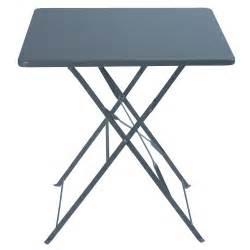 table pliante de jardin en m 233 tal l 70 cm guinguette
