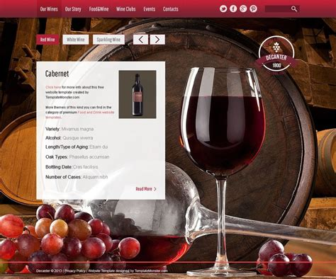 Wine Winery Free Html5 Theme Free Wine Website Templates