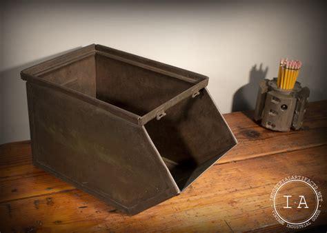 industrial metal drawer organizer vintage industrial metal storage bin box organizer tote