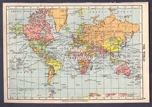 World Map 1950 by World Map 1950s Vintage Map World Atlas Map Geographical