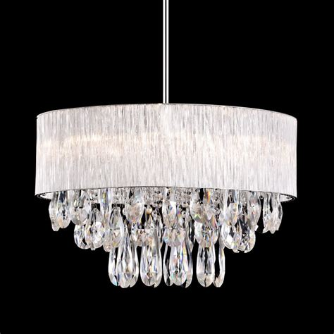 Drum Shade Chandelier 8 L Drum Ribbed Shade Pendant Lighting Chandelier Dia 20 Quot Ebay