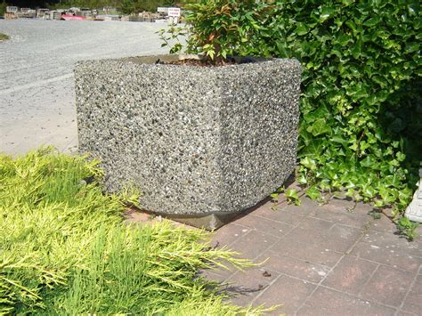 Precast Concrete Planter by Square Planter Exposed Aggregate Concrete Mackay