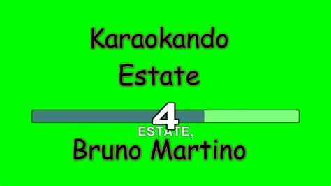estate testo bruno martino karaoke italiano estate bruno martino testo