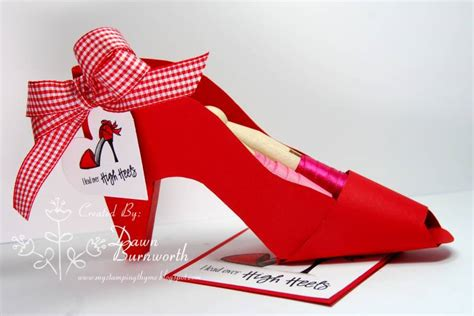 How To Make A Paper High Heel Shoe - in my high heels by flowergal36 cards and paper