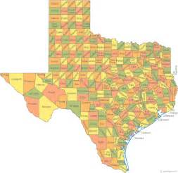 Tx Is In What County Map Of