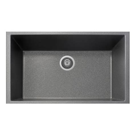 Kitchen Sink Titanium La Toscana One Undermount Granite Composite 19 5 In Single Bowl Kitchen Sink In Titanium