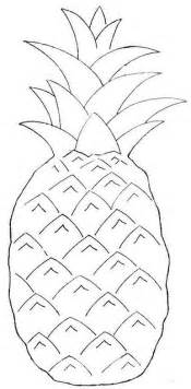 pineapple template fruit pattern wool applique and wool on