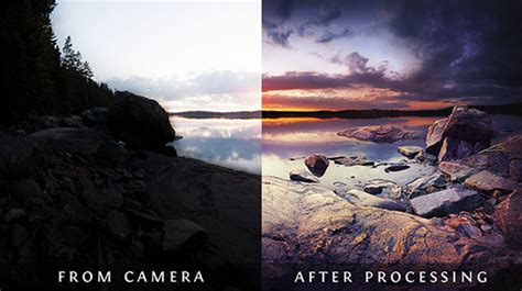 color processing the of color processing in landscape photography