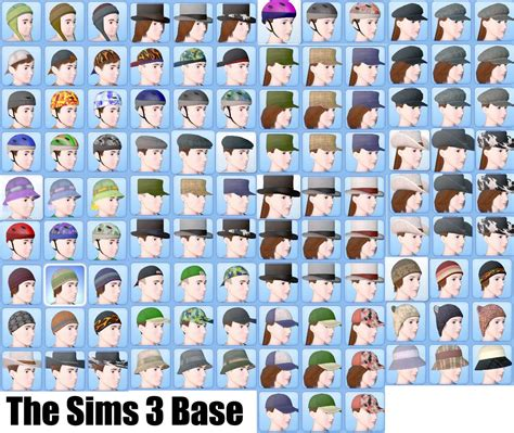 the sims 3 hairstyles and their expansion pack cas hat hiders updated all expansions and stuff packs