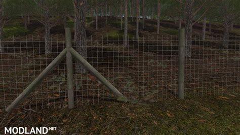 deer fence prefab   mod farming simulator