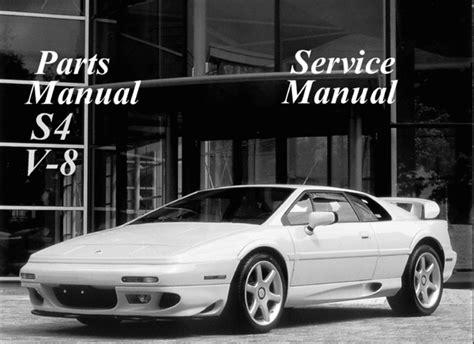 service manual free download parts manuals 2001 lotus esprit electronic valve timing service lotus esprit s4 v8 service repair parts manual download download