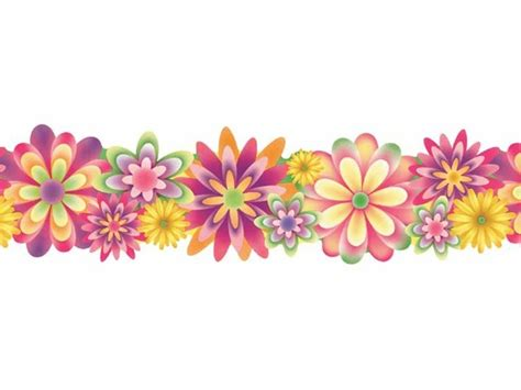 May Borders Clipart by Flower Border Line Clipart Clip Library