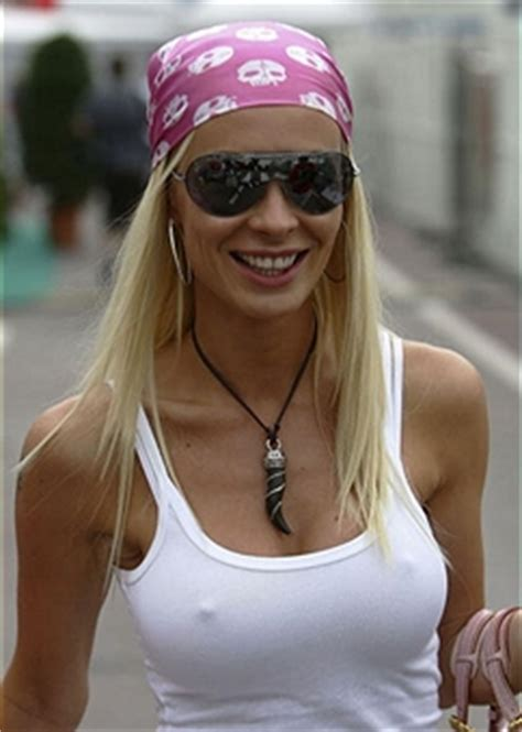 Cora Schumacher At Monaco Grand Prix With Marc Bag by Qualifying For The F1 Grand Prix Of Monaco Photos And