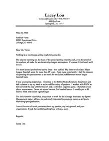 Sports Cover Letter Exles by Sports Marketing Cover Letter