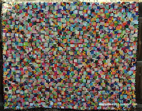 Patch Quilt by Audreypawdrey Scrappy Disappearing Nine Patch Quilt