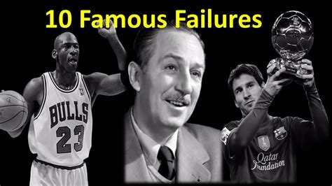 famous failures youtube 10 famous failures inspirational video alltimetop