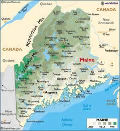 map of maine large color map